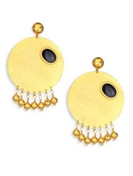 Paula Mendoza Sphere Drop Earrings
