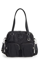 M Z Wallace Mz 'Small Roxy' Bedford Nylon Shoulder Bag Black