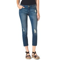 Michael Michael Kors Distressed Cropped Skinny Jeans