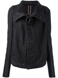 Rick Owens Drkshdw High Collar Denim Jacket Black