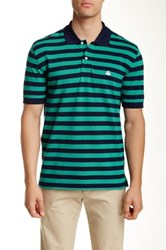 Brooks Brothers Feeder Stripe Polo Green