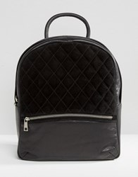 Urbancode Backpack With Quilted Suede Panel Black
