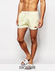 Ellesse Swim Shorts With Taping Exclusive To Asos Yellow