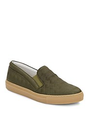 Del Toro Quilted Leather Slip On Sneakers Green