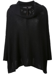 Forme D'expression Chunky Knit Poncho Black
