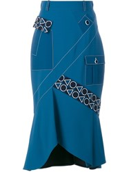 Peter Pilotto Safari Midi Skirt Blue