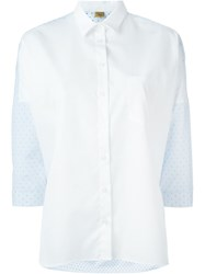 Fay Contrast Back Shirt Blue