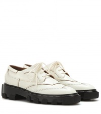 Balenciaga Leather Derby Shoes White