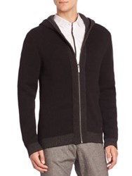 Strellson K Silence Slim Fit Jacquard Hooded Jacket Black
