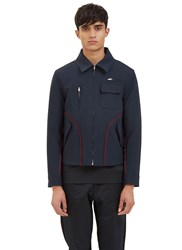 Yang Li Harrington Contrast Serge Stitched Jacket Navy