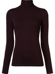 Majestic Filatures High Neck Longsleeved T Shirt Brown