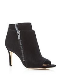 Via Spiga Vanetta High Heel Open Toe Booties Black