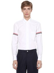 Thom Browne Cotton Poplin Shirt W Striped Arm Bands
