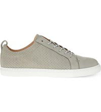Whistles Kenley Perforated Nubuck Trainers Grey