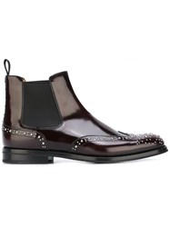 Church's Studded Chelsea Boots Pink Purple