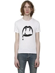 Saint Laurent Blood Luster Printed Cotton T Shirt