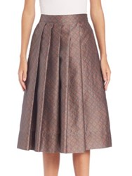 Pauw Pleated Geo Print Skirt