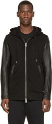 Diesel Black Leather L Mifun 1 Hoodie