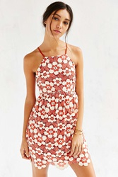 Cooperative Daisy Lace High Neck Dress Rust