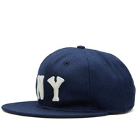 Ebbets Field Flannels New York Black Yankees 1936 Cap Navy Wool