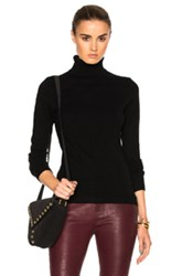 Frame Denim Classic Turtleneck Top In Black