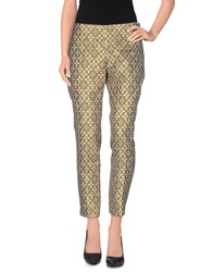 Roberto Collina Casual Pants Gold