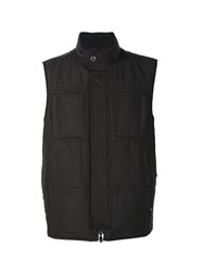 Corneliani Pocketed Zip Up Vest Black