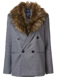 Smythe Detachable Collar Blazer Grey