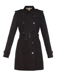 Burberry Kensington Mid Length Gabardine Trench Coat