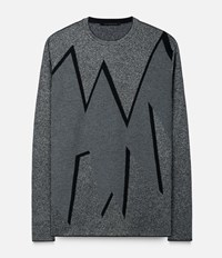 Christopher Kane Smashed Jacquard Sweater Grey