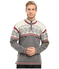 Dale Of Norway Vail Smoke Raspberry Men's Sweater Gray