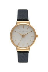Topshop Olivia Burton The Hackney Black And Gold Watch