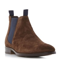 Bertie Cole Double Tab Chelsea Boots Brown