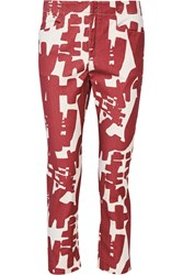 Isabel Marant Kynn Printed Mid Rise Tapered Jeans