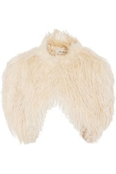 Temperley London Feather Embellished Silk Jacket Nude