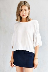 Cooperative Flutter Sleeve Tee Ivory
