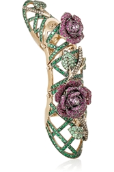 Lydia Courteille 18 Karat Gold Multi Stone Ring