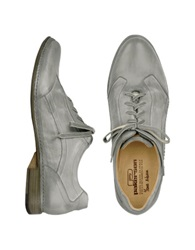 Pakerson Gray Italian Handmade Leather Lace Up Shoes