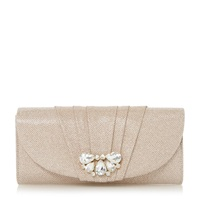 Untold Buena Pleated Trim Bag Gold