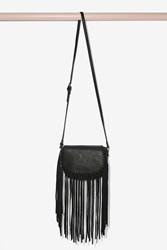 Nasty Gal Off The Grid Suede Fringe Crossbody Bag