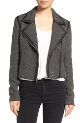 Paige Women's Telma Moto Jacket With Faux Leather Trim