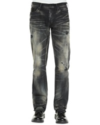 Prps Jacinta Distressed And Faded Denim Jeans Black White