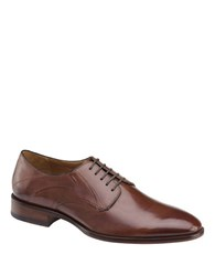 Johnston And Murphy Nolen Monk Strap Italian Calfskin Leather Oxfords Dark Brown