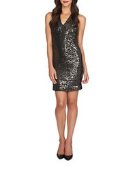 1.State Sequined Cutout Back Bodycon Dress