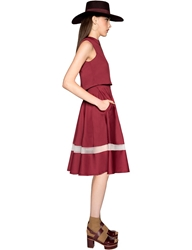 Pixie Market Burgundy Midi Two Piece Dress Set