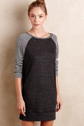 Anthropologie Two Stripe Tunic Black Motif