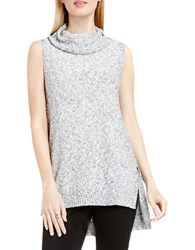 Vince Camuto Marled High Low Cowlneck Pullover New Ivory