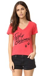 Wildfox Couture Frisky Business Tee Poppy Red