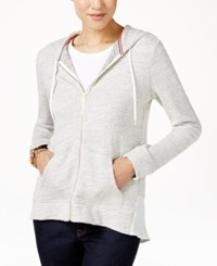 Tommy Hilfiger Abigail Zip Front Hoodie Snow White