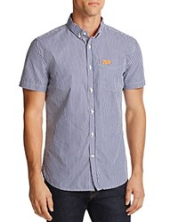 Superdry London Striped Regular Fit Button Down Shirt Navy